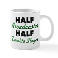 Half Broadcaster Half Zombie Slayer Mugs