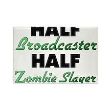 Half Broadcaster Half Zombie Slayer Magnets