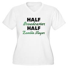 Half Broadcaster Half Zombie Slayer Plus Size T-Sh