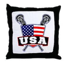 Team USA Lacrosse Logo Throw Pillow