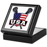 American flags Keepsake Boxes
