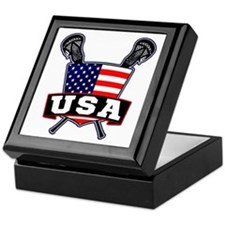 Team USA Lacrosse Logo Keepsake Box