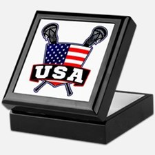 Team USA Lacrosse Logo Keepsake Box