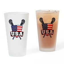 Team USA Lacrosse Logo Drinking Glass