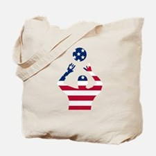 American Flag Volleyball Set Tote Bag