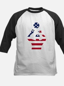 American Flag Volleyball Set Baseball Jersey