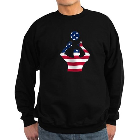 American Flag Volleyball Set Sweatshirt