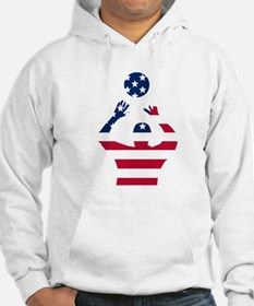 American Flag Volleyball Set Hoodie