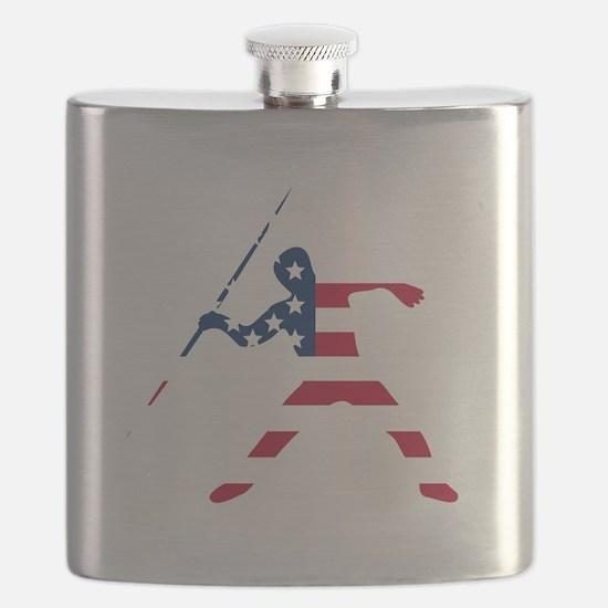 American Flag Javelin Throw Flask