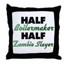 Half Boilermaker Half Zombie Slayer Throw Pillow