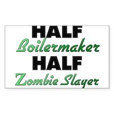 Half Boilermaker Half Zombie Slayer Decal