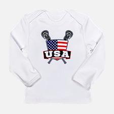 Team USA Lacrosse Logo Long Sleeve T-Shirt