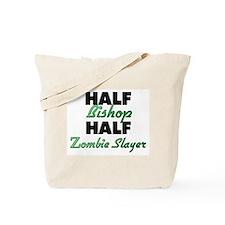 Half Bishop Half Zombie Slayer Tote Bag