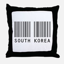 SOUTH KOREA Barcode Throw Pillow