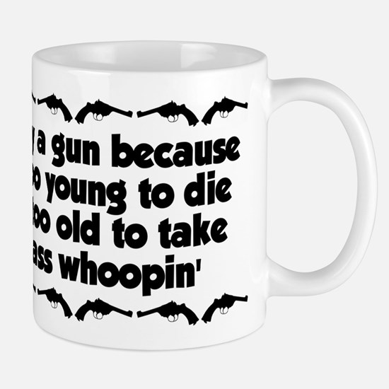 Too Old For An Ass Whoopin' Mug