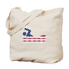 American Flag Swimmer Tote Bag