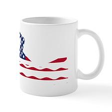 American Flag Swimmer Mugs