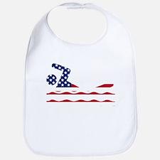 American Flag Swimmer Bib