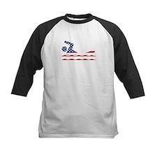 American Flag Swimmer Baseball Jersey