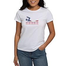 American Flag Swimmer T-Shirt