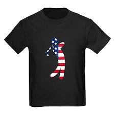 American Flag Golfer T-Shirt