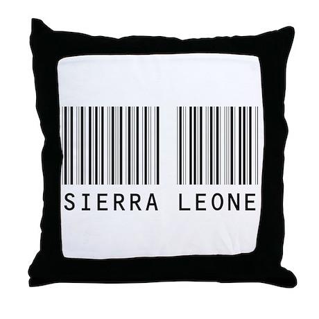 SIERRA LEONE Barcode Throw Pillow