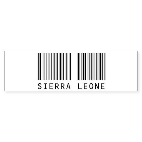 SIERRA LEONE Barcode Bumper Sticker