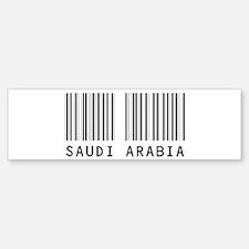 SAUDI ARABIA Barcode Bumper Bumper Bumper Sticker