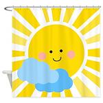 Cute Sunshine Shower Curtain