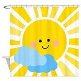 Good morning sunshine Shower Curtains
