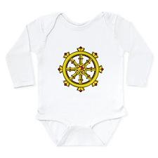 Dharmachakra Wheel Long Sleeve Infant Bodysuit