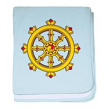 Dharmachakra Wheel baby blanket