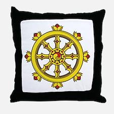 Dharmachakra Wheel Throw Pillow