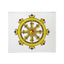 Dharmachakra Wheel Throw Blanket