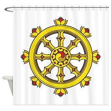Dharmachakra Wheel Shower Curtain
