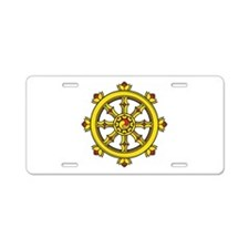 Dharmachakra Wheel Aluminum License Plate