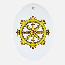 Dharmachakra Wheel Ornament (Oval)