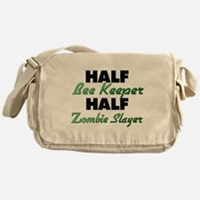 Half Bee Keeper Half Zombie Slayer Messenger Bag