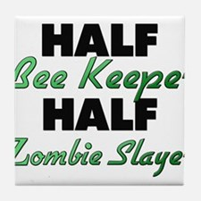 Half Bee Keeper Half Zombie Slayer Tile Coaster