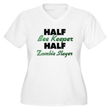 Half Bee Keeper Half Zombie Slayer Plus Size T-Shi