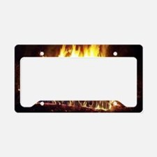 Couch on Fire License Plate Holder