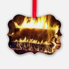 Couch on Fire Ornament