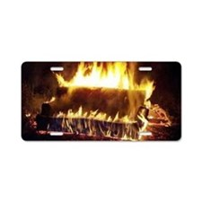 Couch on Fire Aluminum License Plate
