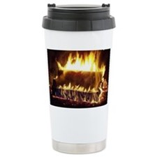 Couch on Fire Travel Mug
