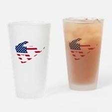 American Flag Snowboarder Drinking Glass