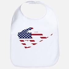 American Flag Snowboarder Bib