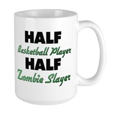 Half Basketball Player Half Zombie Slayer Mugs