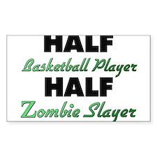 Half Basketball Player Half Zombie Slayer Decal