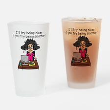 Intelligence Sarcasm Drinking Glass