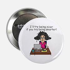 "Intelligence Sarcasm 2.25"" Button (100 pack)"